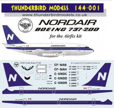 New Product Line – Decals by Thunderbird Models | Airline
