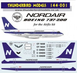 TM144-001 Nordair Boeing 737-200 Instructions and Decal
