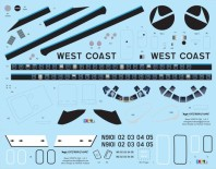VFD72-236-dc-9-West Coast Airlines Decal