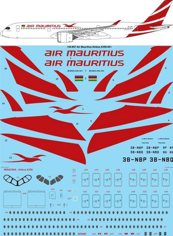 TS44-857-Air_Mauritius_Airbus_A350-W