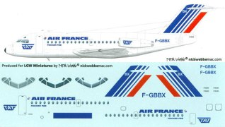 LGW44-AFN1000-Air-France-later-F28-1000-Profile-and-Decal-W