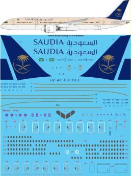 TS44-818 Saudia Boeing 787-9