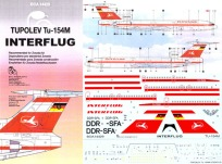 BOA144-029 Interflug Tupolev 154M Instructions and Decal-88