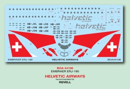 BOA44-106 Helvetic Emb190 Decal-W