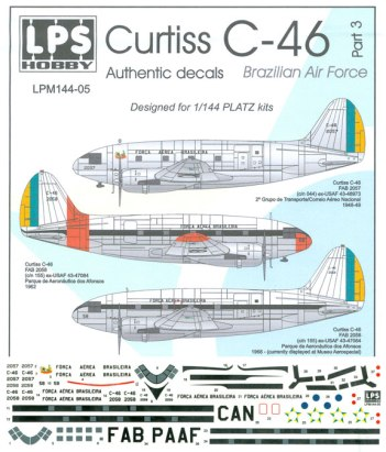 LPM144-005-Brazilian-Air-Force-Curtiss-C46-Instructions-and-Decal-88-W