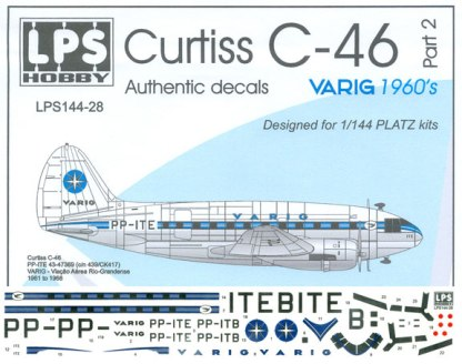 LPS144-028-Varig-1960-Curtiss-C46-Instructions-and-Decal-88-W