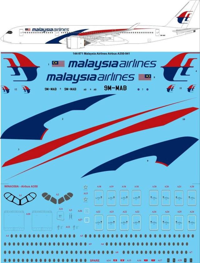 TS44-871-Malaysia_Airbus_A350-900-W