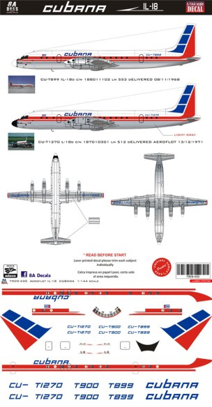 8A-430-Cubana-Ilyushin-18-Decal-and-Profile-812-W