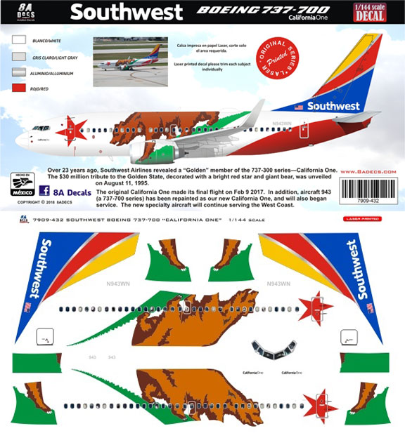 8A-432-Southwest-California-One-B737-700-Profile-and-Decal-812-W