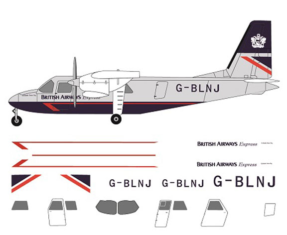 FR14116-BN2A-Islander-British-Airways-Profile-and-Decal-812-W