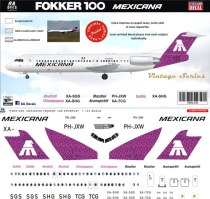 8A-435-Mexicana-purple-Fokker-100-Profile-and-Decal-812-W