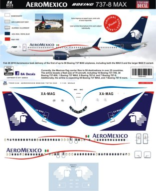 8A-442-AeroMexico-Boeing-737-MAX8-Profile-and-Decal-812-W