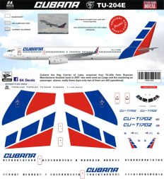8A-446-Cubana-Tupolev-204E-Profile-and-Decal-812-W