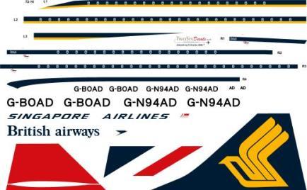 TS72-016L Singapore Concorde