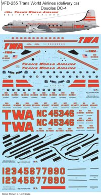 VFD-255-Trans-World-Airlines-delivery-cs-Douglas-DC-4-Profile-and-Decal-812-W