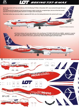 8A-463-LOT-Polish-Independence-B737-MAX8-Instructions-and-Decal-812-W