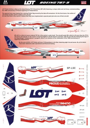 8A-464-LOT-Polish-Independence-B787-9-Instructions-and-Decal-812-W