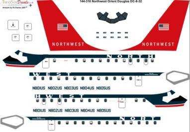 TS44-316 Northwest DC-8-32