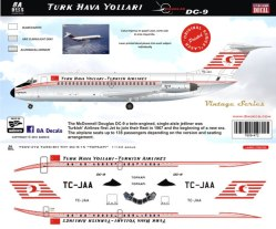 8A-472-Thy-Turkish-DC-9-30-Instructions-and-Decal-812-W