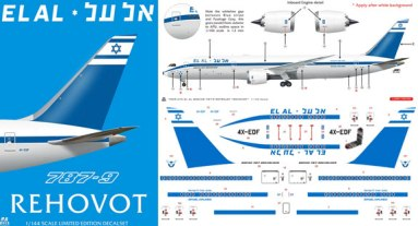 8A-473-El-Al-retro-Boeing-787-9-Instructions-and-Decal-812-W