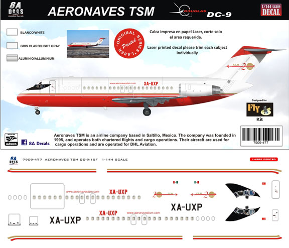 8A-477-Aeronaves-TSM-DC-9-15-Instructions-and-Decal-812-W