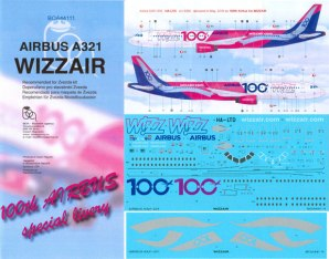 BOA144-111-Wizz-Air-100th-A321-Instructions-and-Decal-812-W
