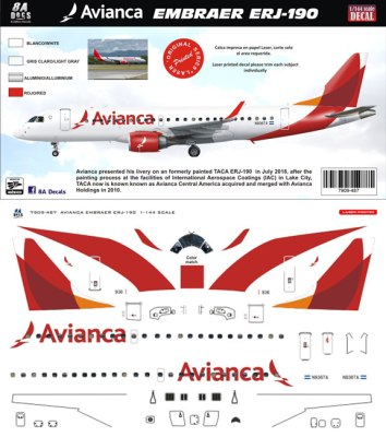 8A-487-Avianca-Embraer-190-Profile-and-Decal-812-W