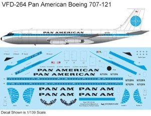 VFD-264-Boeing-707-121-Pan-American-Profile-and-Decal-812-W