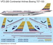 VFD-265T-Boeing-707-130-Continental-Airlines-Profile-and-Decal-812-W
