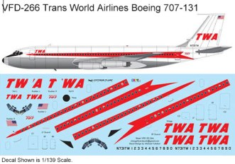 VFD-266-Boeing-707-131-Trans-World--Profile-and-Decal-812-W