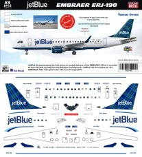 8A-489-TG-JetBlue-Embraer-190-Tartan-Green-Profile-and-Decal-812-W