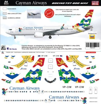 8A-491-Cayman-Airways-Boeing-737-MAX8-Profile-and-Decal-812-W