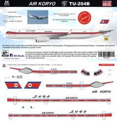 8a-495-air-koryo-tu204-profile-and-decal-812-w