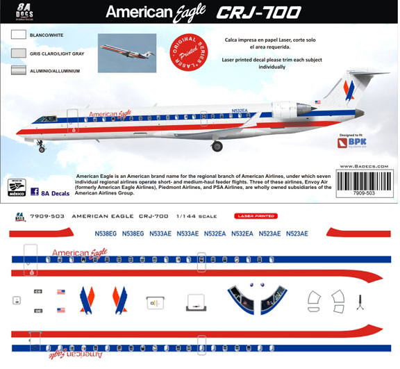 8A-503-American-Eagle-CRJ700-Profile-and-Decal-812-W