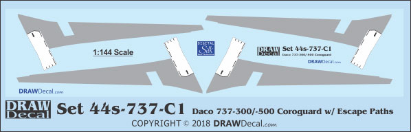 DRAW Decal Corogards, Wing Escape Markings and Prop Logos