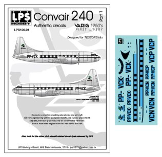 LPS126-001-Varig-Convair-240-Profile-and-Decal-812-W