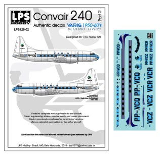 LPS126-002-Varig-Convair-240-Profile-and-Decal-812-W
