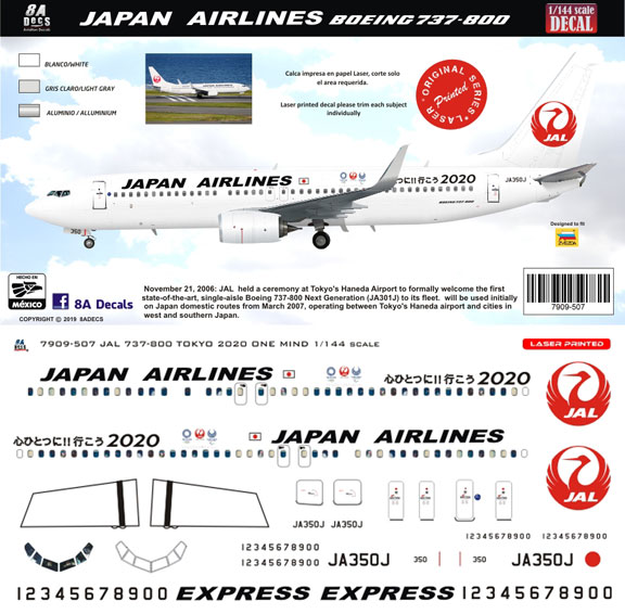 8A-507-Japan-Airlines-Boeing-737-800-Profile-and-Decal-812-W