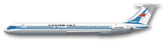 FunD-14011-Aeroflot-delivery-Il62-Profile-812-W