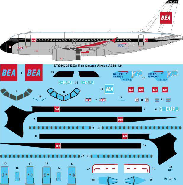STS44-326_BEA_Red_Square_Airbus_A319-W