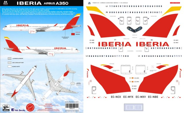 8A-515-Iberia-Airbus-A350-900-Profile-and-Decal-1212-W