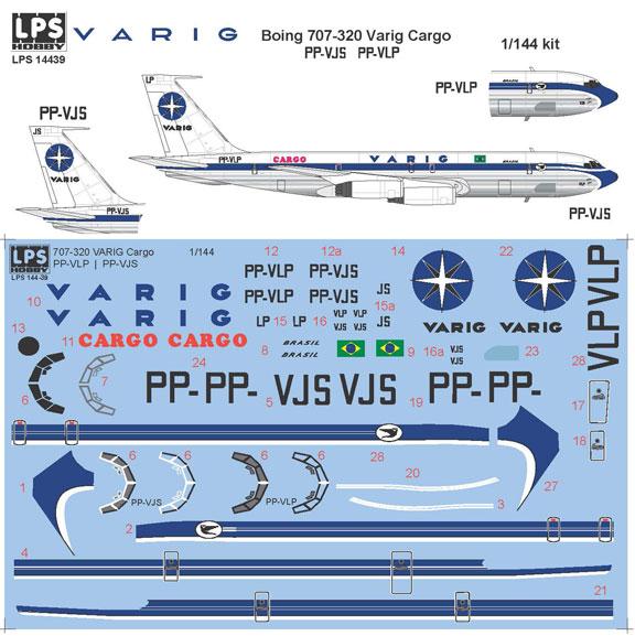 Boeing 707 Varig aircraft sticker