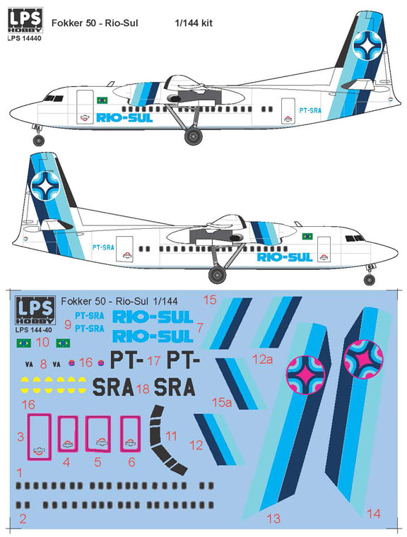 LPS144-040-Rio-Sul-Fokker-50-Profile-and-Decal-812-W