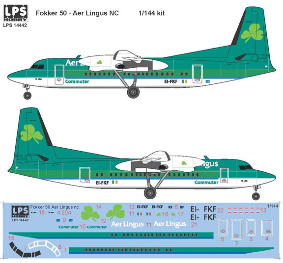 LPS144-042-Aer-Lingus-Fokker-50-Profile-and-Decal-812-W