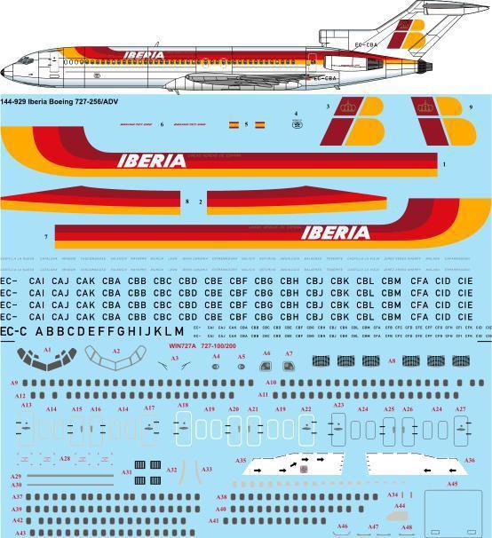 TS44-929-Iberia_1980s_Boeing_727-200-W