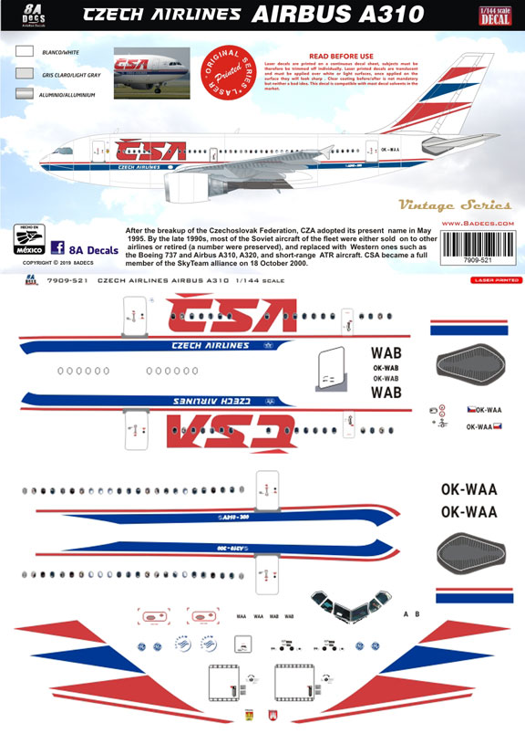 8A-521-Czech-Airlines-A310-Profile-and-Decal-812-W