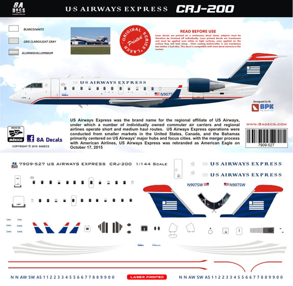 8A-527-US-Airways-Express-CRJ200-Profile-and-Decal-812-W