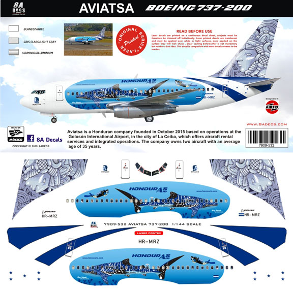 8A-532-Aviatsa-Honduras-B737-200-Profile-and-Decal-812-W
