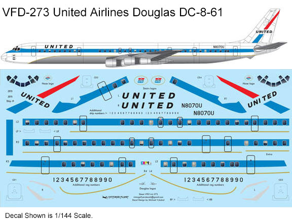 VFD-273-United-delivery-DC-8-61-Profile-and-Decal-812-W