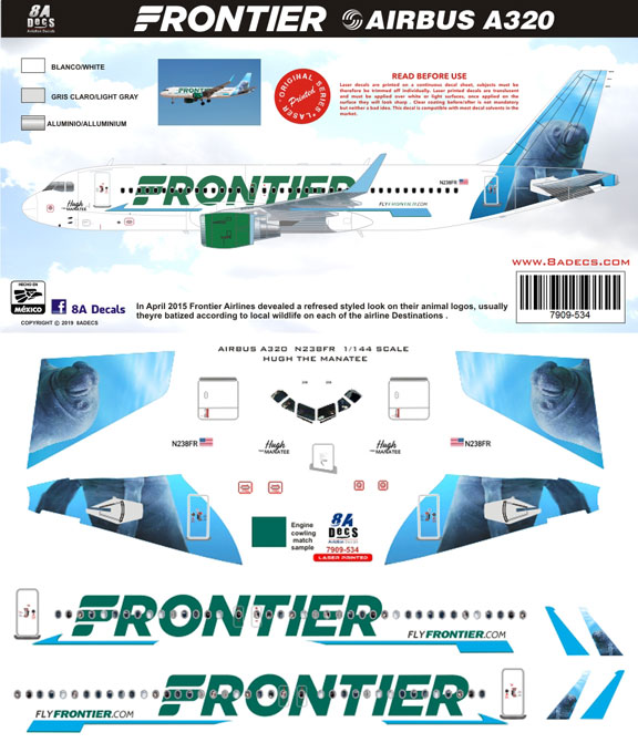 8A-534-Frontier-A320-Manatee-Instructions-and-Decal-812-W